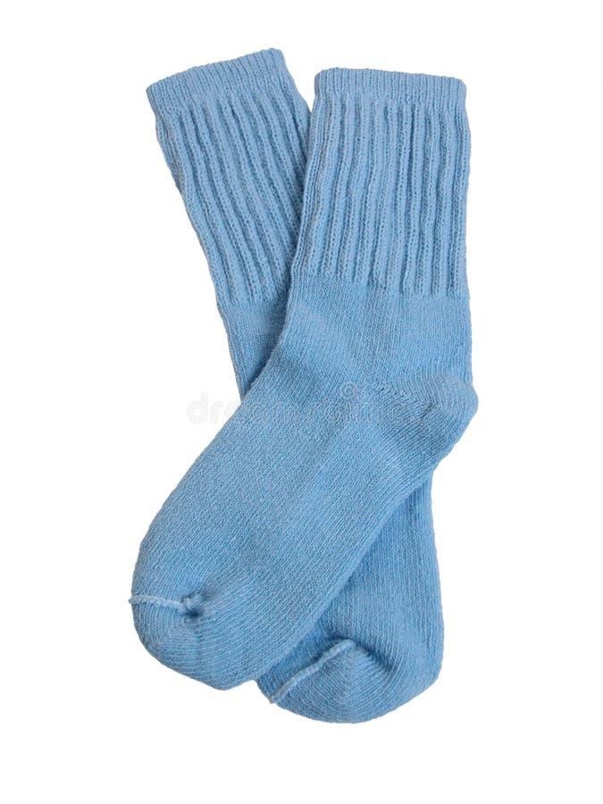 Modo: Calzini blu-chiaro del bambino fotografia stock