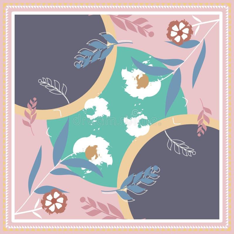 Modo creativo della sciarpa di Hijab per stampare immagine stock