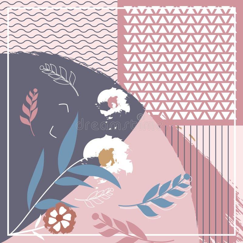 Modo creativo della sciarpa di Hijab per stampare immagine stock libera da diritti