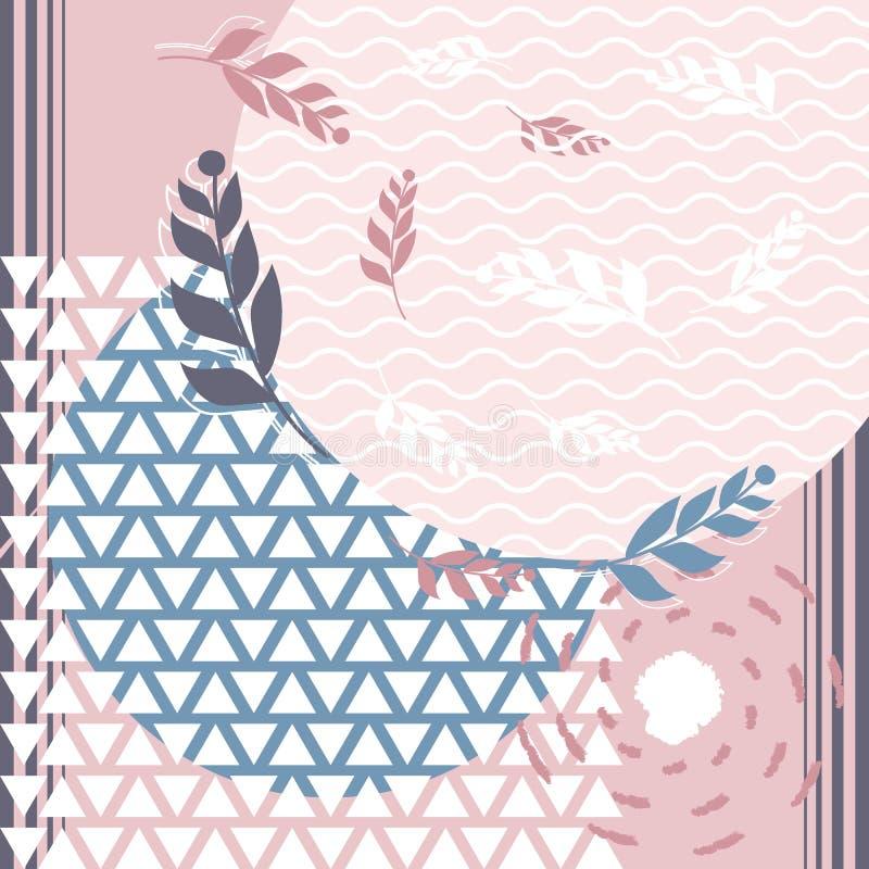 Modo creativo della sciarpa di Hijab per stampare fotografia stock libera da diritti