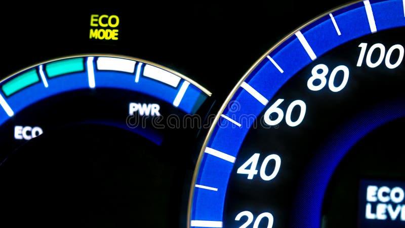 Modo de Eco no painel fotos de stock