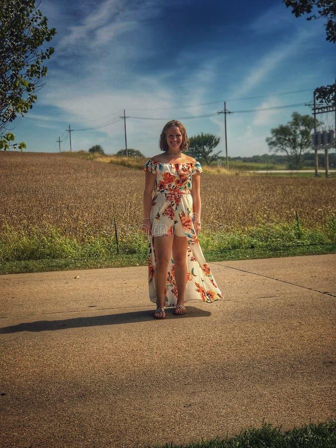 Modo del campo di grano immagini stock