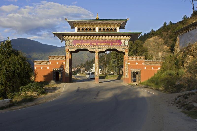 Modo del cancello di Thimpu immagini stock libere da diritti