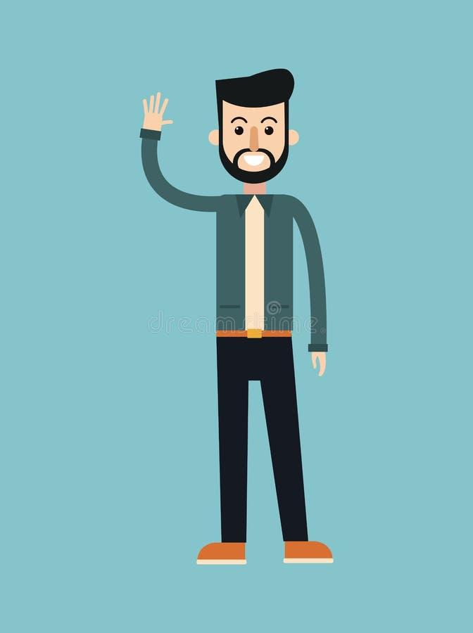Modo del elegante dell'acconciatura della barba dell'uomo illustrazione di stock