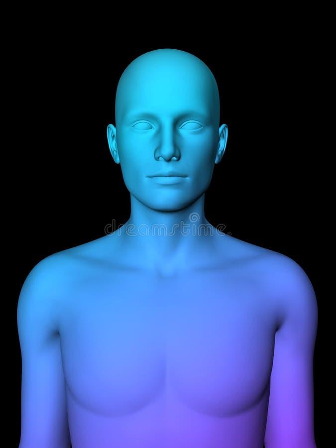 modo del varón 3D ilustración del vector