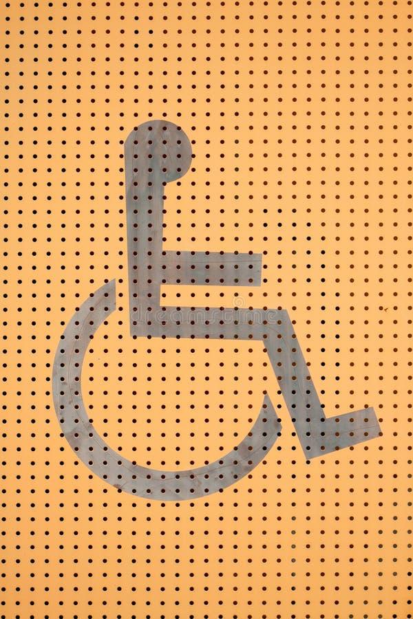 Modo della sedia a rotelle, segno della sedia a rotelle fotografia stock