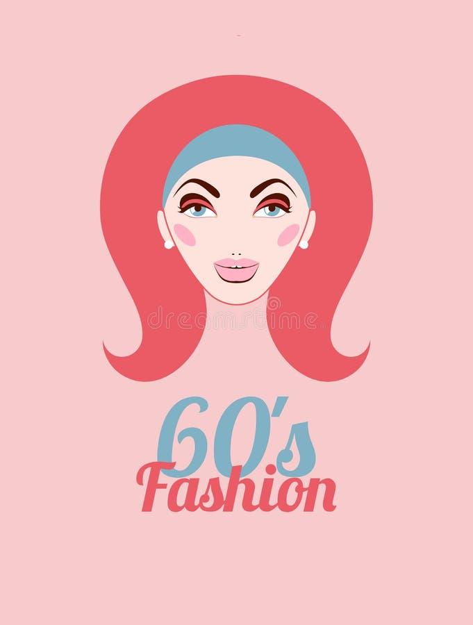Modo di anni sessanta royalty illustrazione gratis