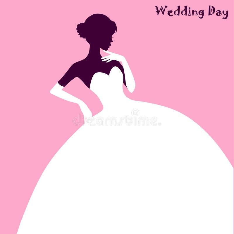 Modo di nozze, vestito elegante dalla sposa fotografia stock libera da diritti
