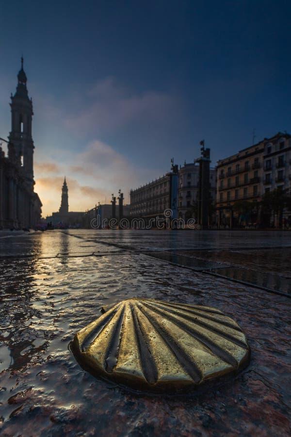 Modo di Shell a Santiago immagini stock