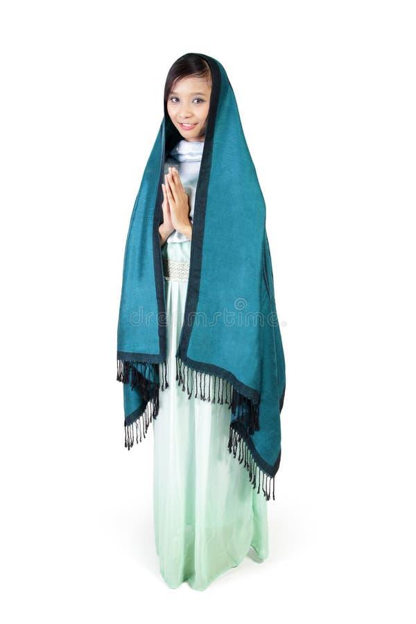 Modo islamico moderno, ente completo su fondo bianco fotografia stock libera da diritti