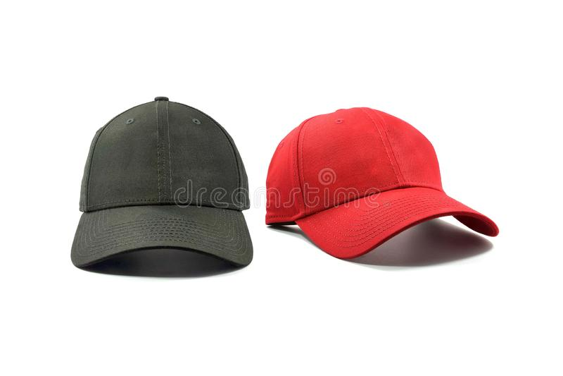 Modo nero e rosso e berretto da baseball fotografia stock