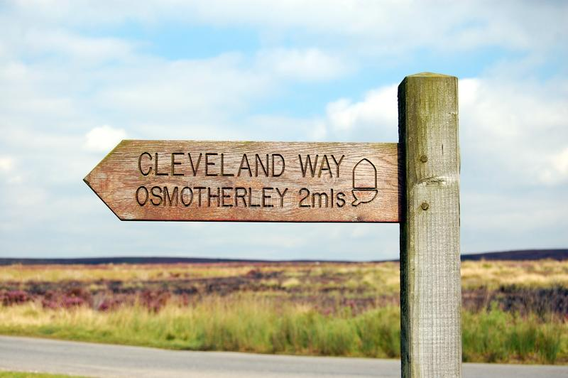 Modo Osmotherley di Cleveland fotografia stock libera da diritti