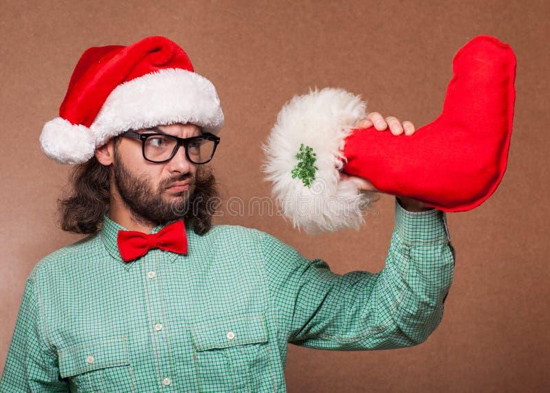 Modo pazzo il Babbo Natale fotografia stock libera da diritti