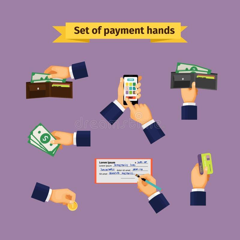 Modo sortido de tipos do pagamento ilustração do vetor