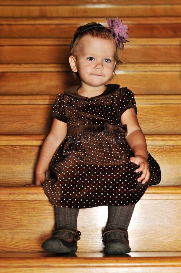 Modo una ragazza da 1 anno fotografie stock