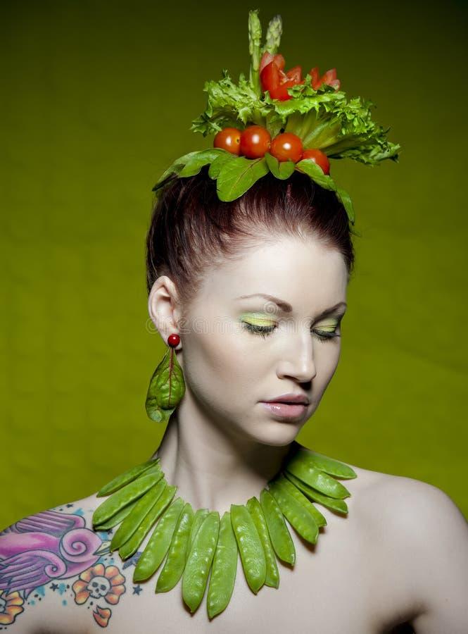 Modo vegetariano immagini stock