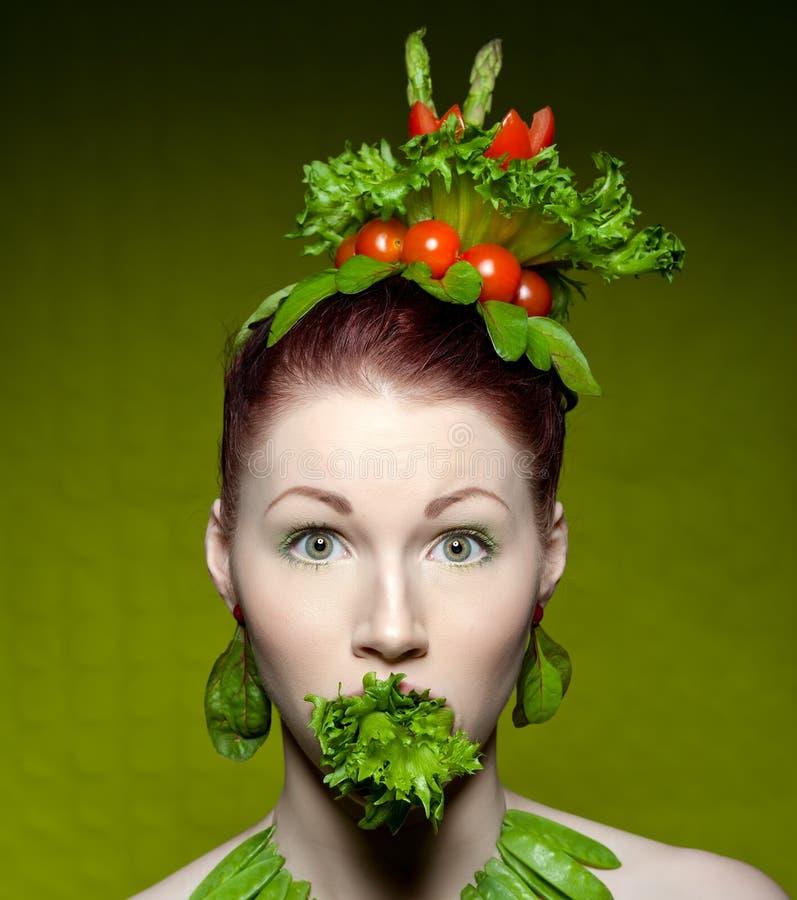 Modo vegetariano immagine stock