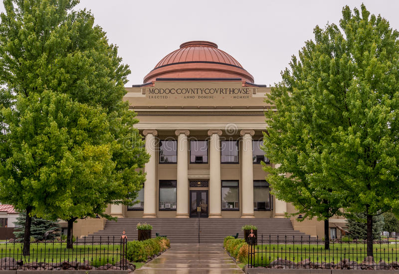 Modoc County Courthouse in Alturas California stock image