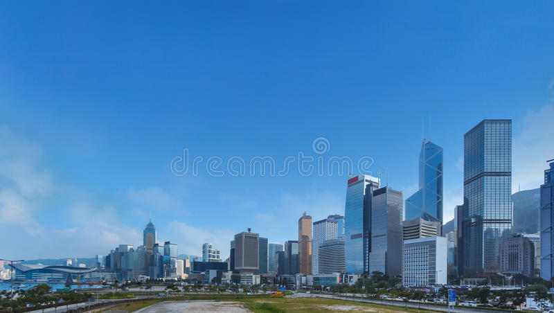 modran office building, business tower, skyscraper in city center. Panorama view royalty free stock photo