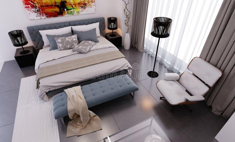 Modren bedroom visualization royalty free stock photo