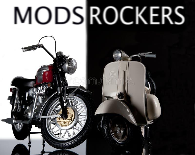 Mods rockers bike and vespa stock photo