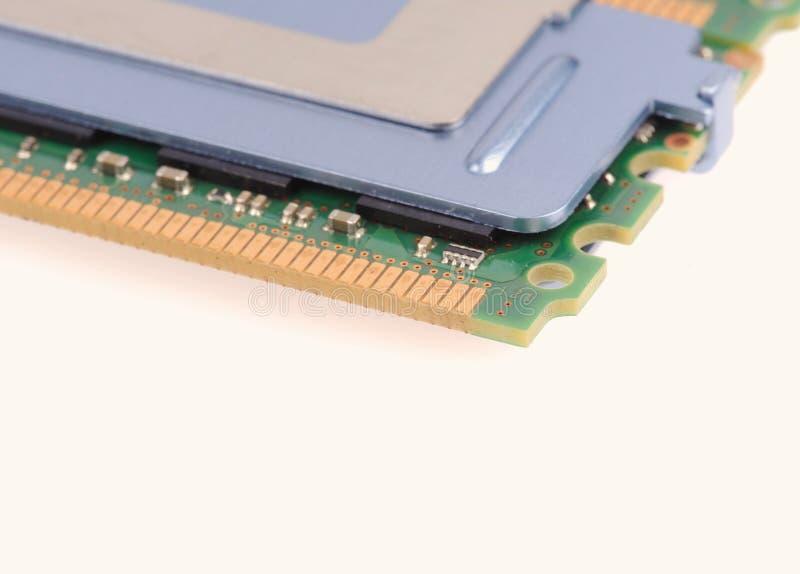 Moduły pamięci komputera na białym tle obraz stock