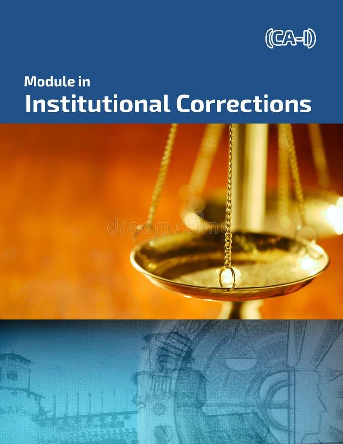 Modul in den Institutionskorrekturen stockbild