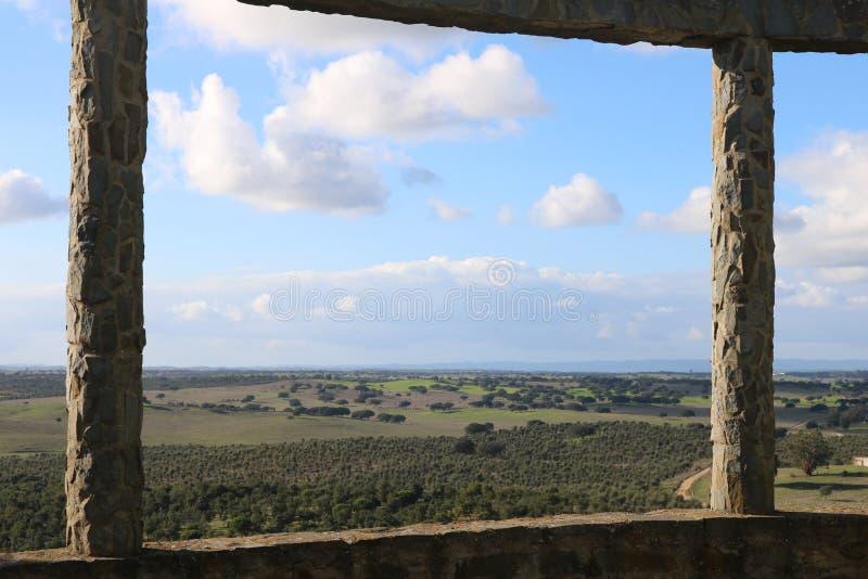 Modulacja Alentejo krajobraz obrazy stock