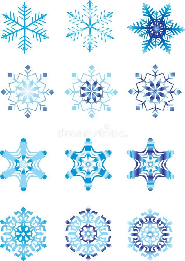 modulacja krystaliczny płatek śniegu ilustracji