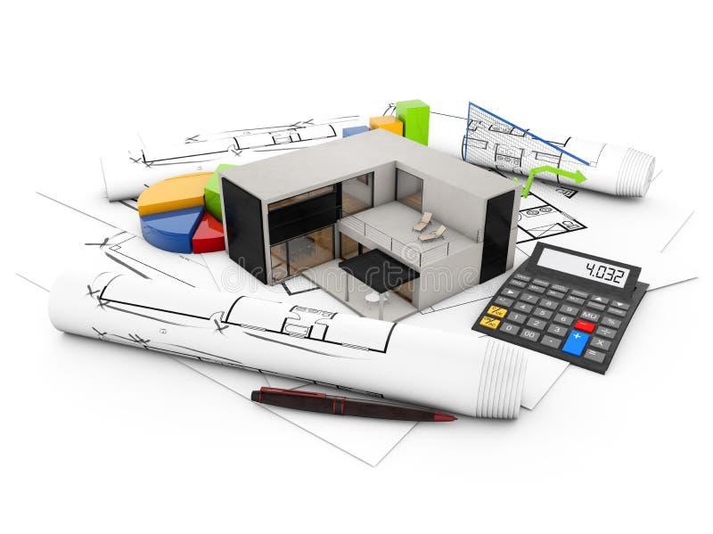 Modulaire huisboekhouding stock illustratie