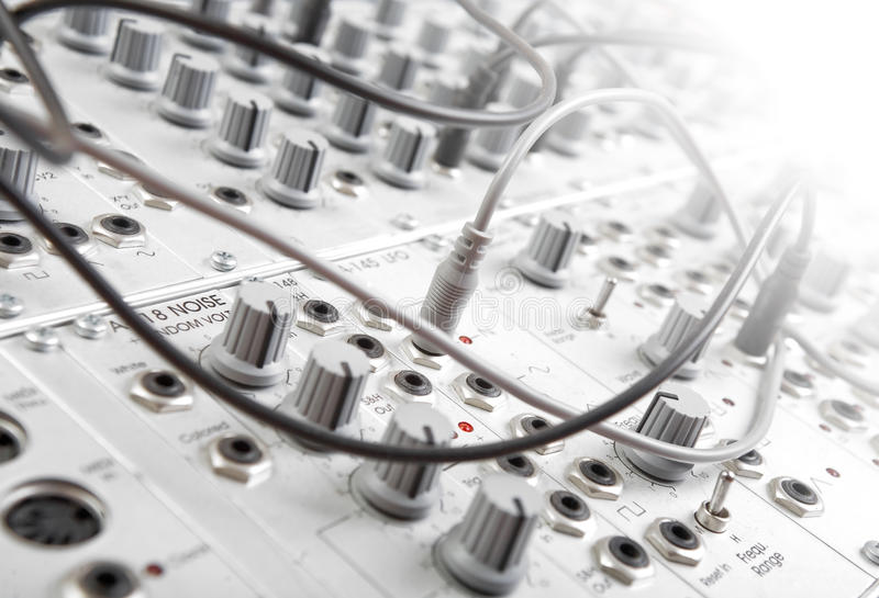 Modulaire synth royalty-vrije stock foto