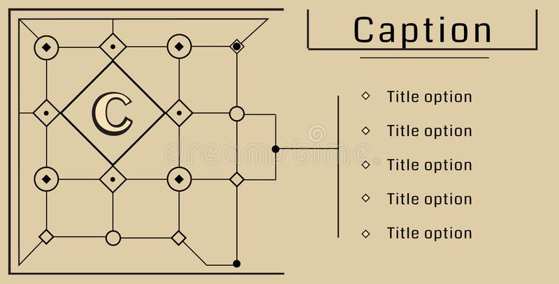 Modular Bauhaus vector background royalty free illustration