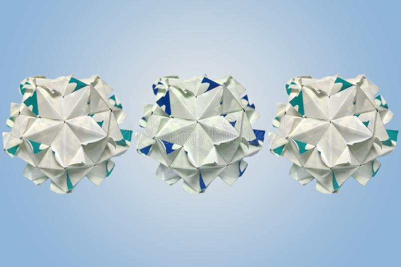Modular origami stock images