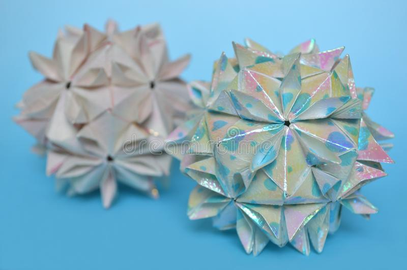 Download Modular Origami Cherry Blossom Ball Stock Photo