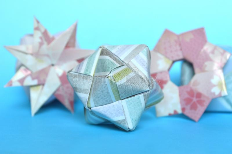 Download Modular Origami Star Ring And Sonobe Ball Stock Photo