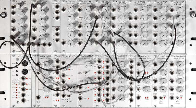 Modular synth royalty free stock image