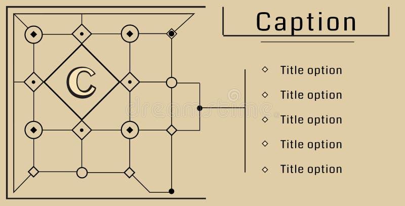 Modularer Bauhausvektorhintergrund lizenzfreie abbildung