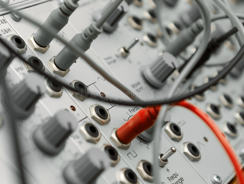 modularny analogowy synth fotografia stock