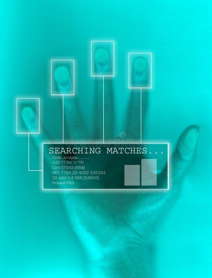Module de balayage biologique de degré de sécurité de main illustration libre de droits