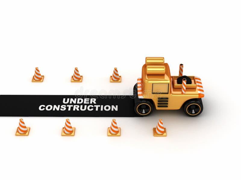 module de finition de l'asphalte 3d illustration de vecteur