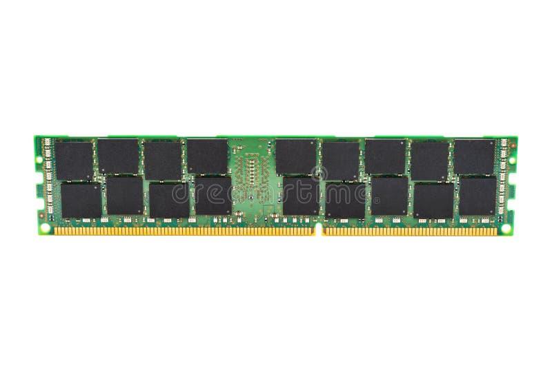 Module de la mémoire DDR3 d'isolement sur le fond blanc image libre de droits