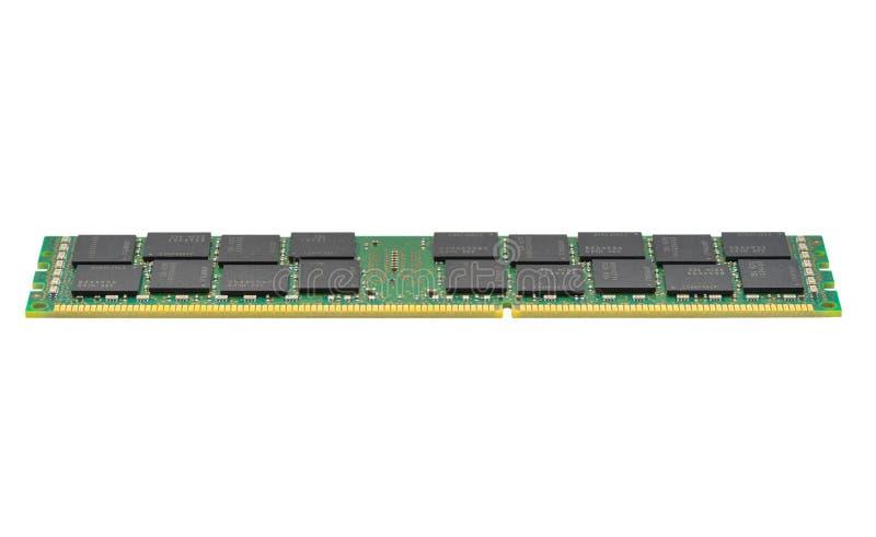 Module de la mémoire DDR3 d'isolement sur le fond blanc photographie stock libre de droits