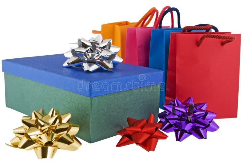 Module de Noël avec les sacs colorés photos libres de droits