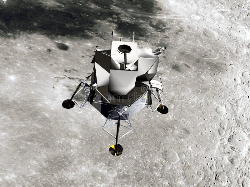 Module lunaire illustration stock