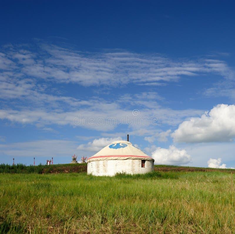 Module Yurt de la Mongolie images stock
