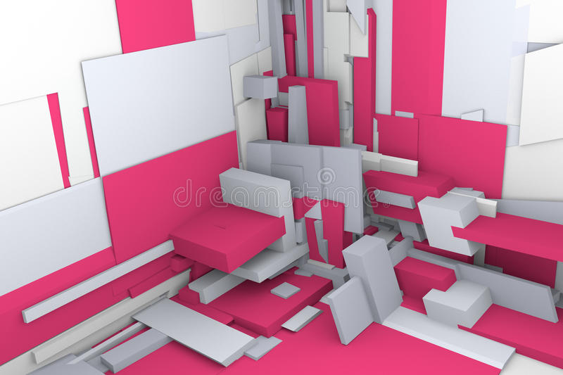 modules 3d illustration libre de droits