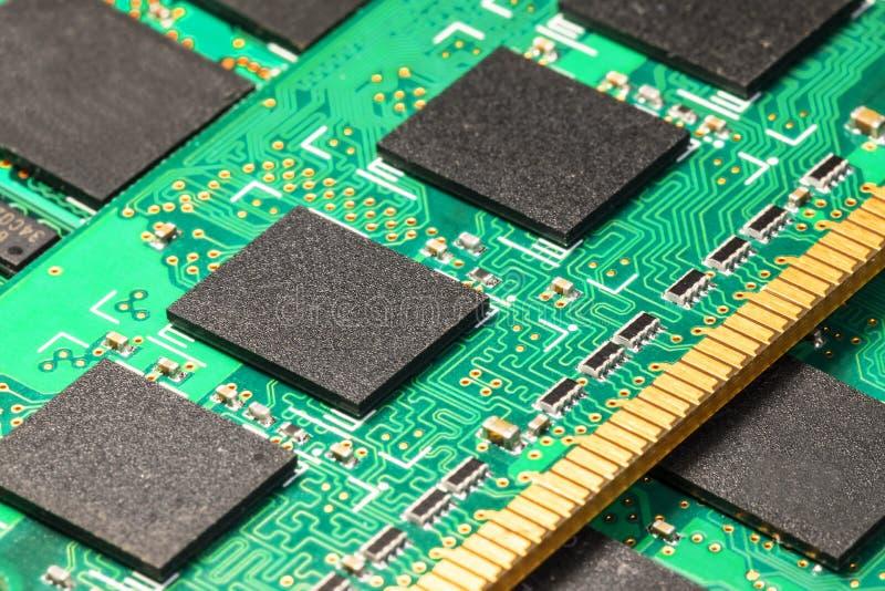 Moduli di memoria del computer DRAM immagini stock