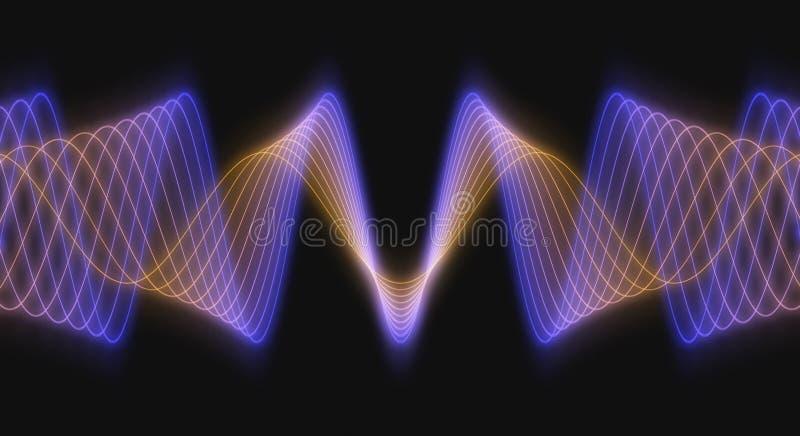 Moduli di onda resi 3D illustrazione di stock