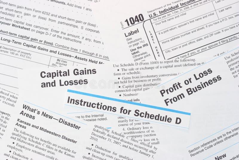 Moduli Federali Di Imposta Sul Reddito Di IRS Immagine Stock