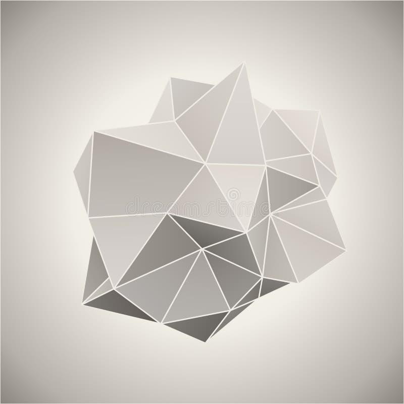 Modulo astratto 3D illustrazione di stock